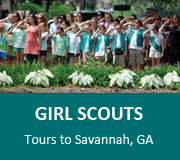 Girl Scouts visit Savannah Georgia